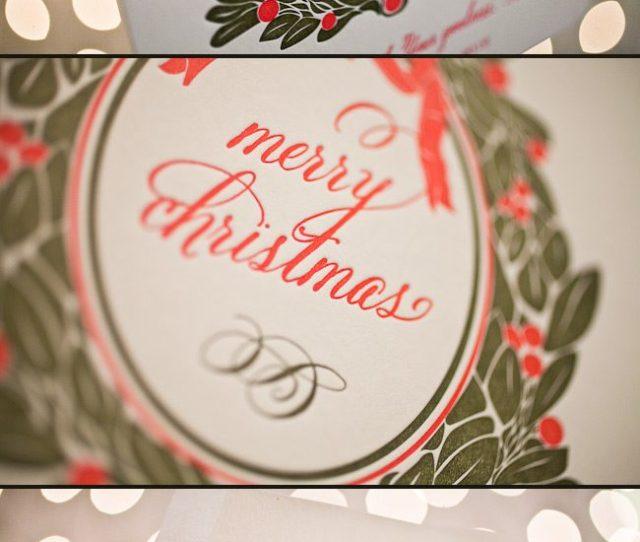 Custom Christmas Cards In Lovely Letterpress Inks