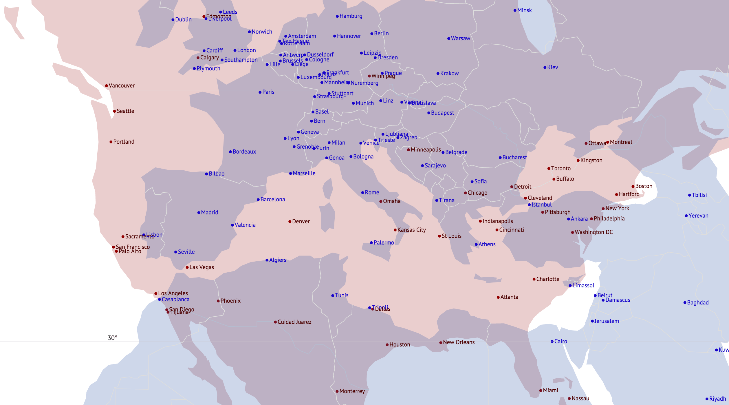 Interactive Equivalent Latitude Map