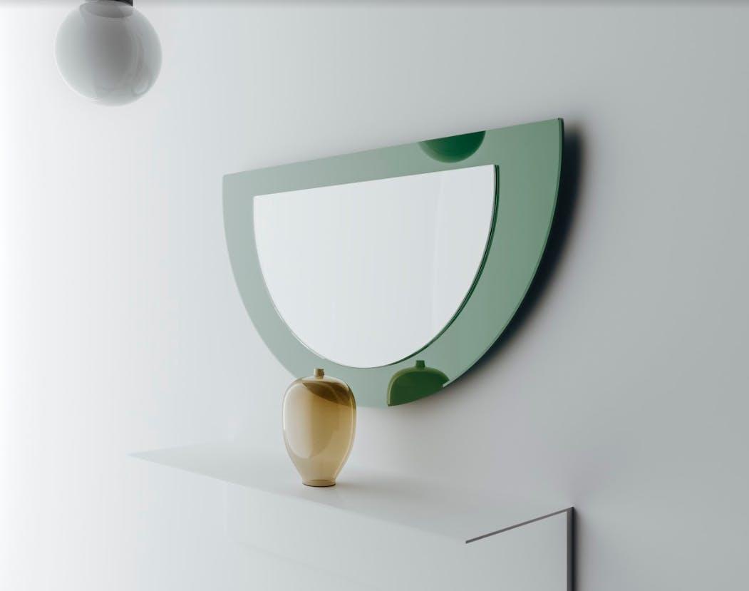 green mirror, modern mirror, midcentury modern mirror
