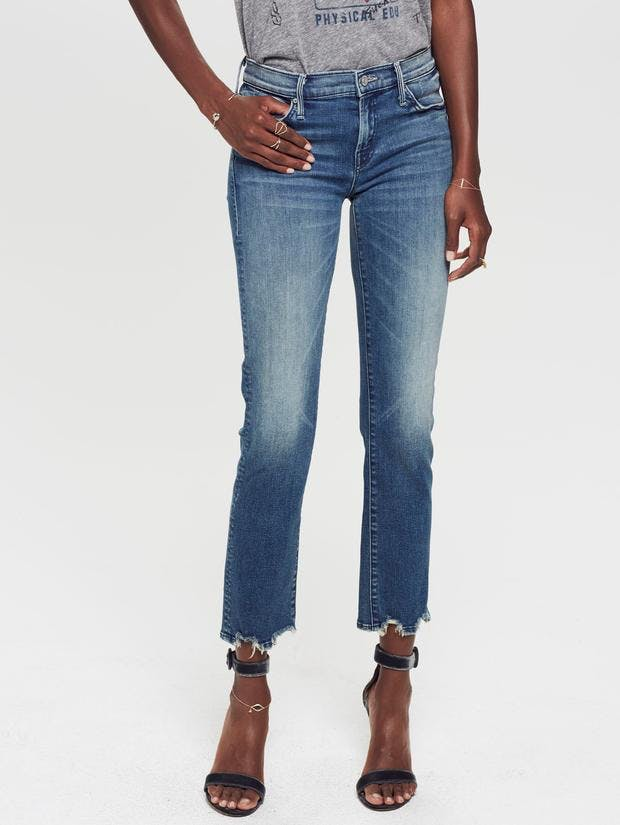mother jeans, mother denim, cropped jeans, faded jeans
