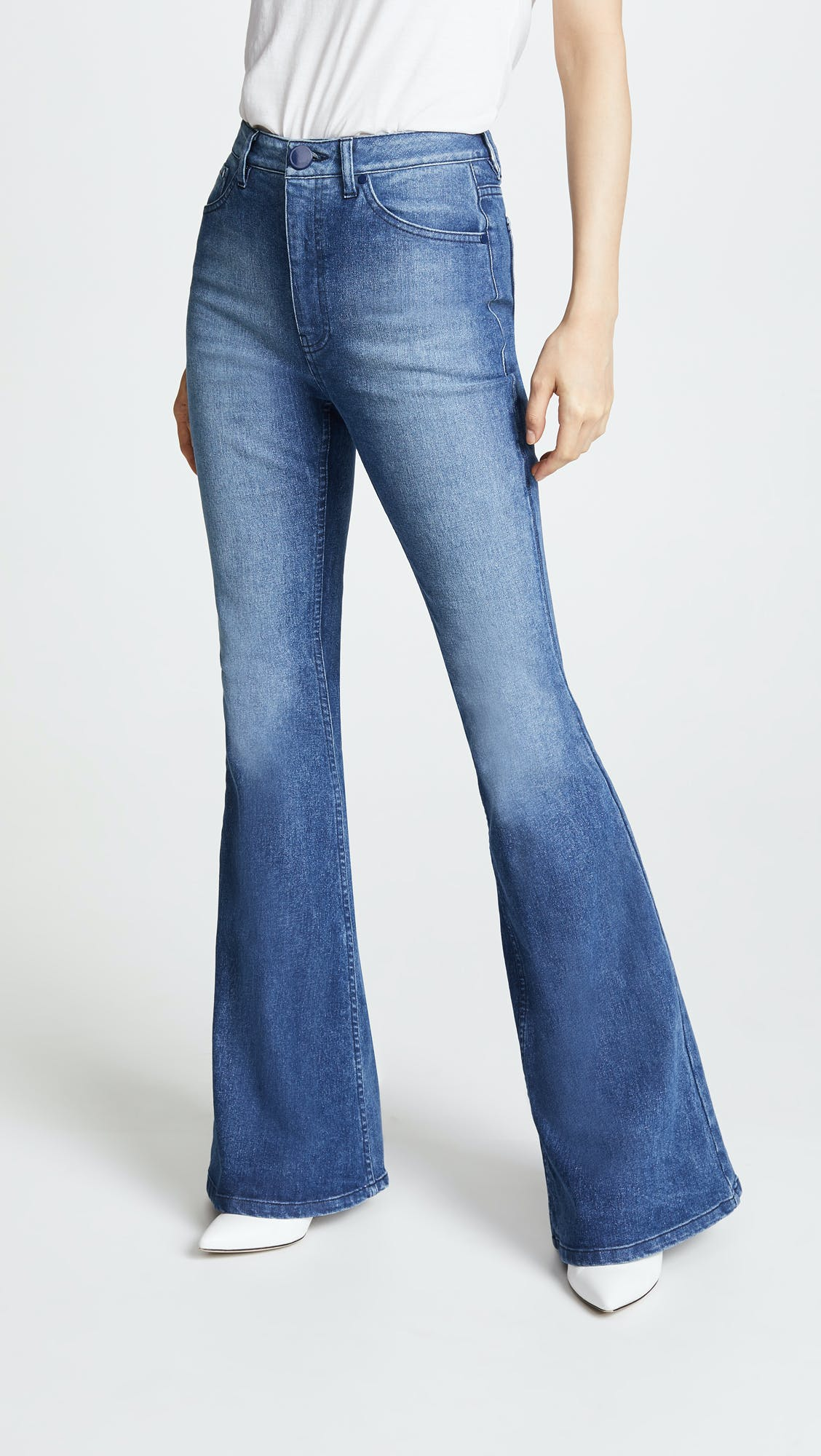 brandon maxwell, flared jeans, bell bottom jeans, flared jeans
