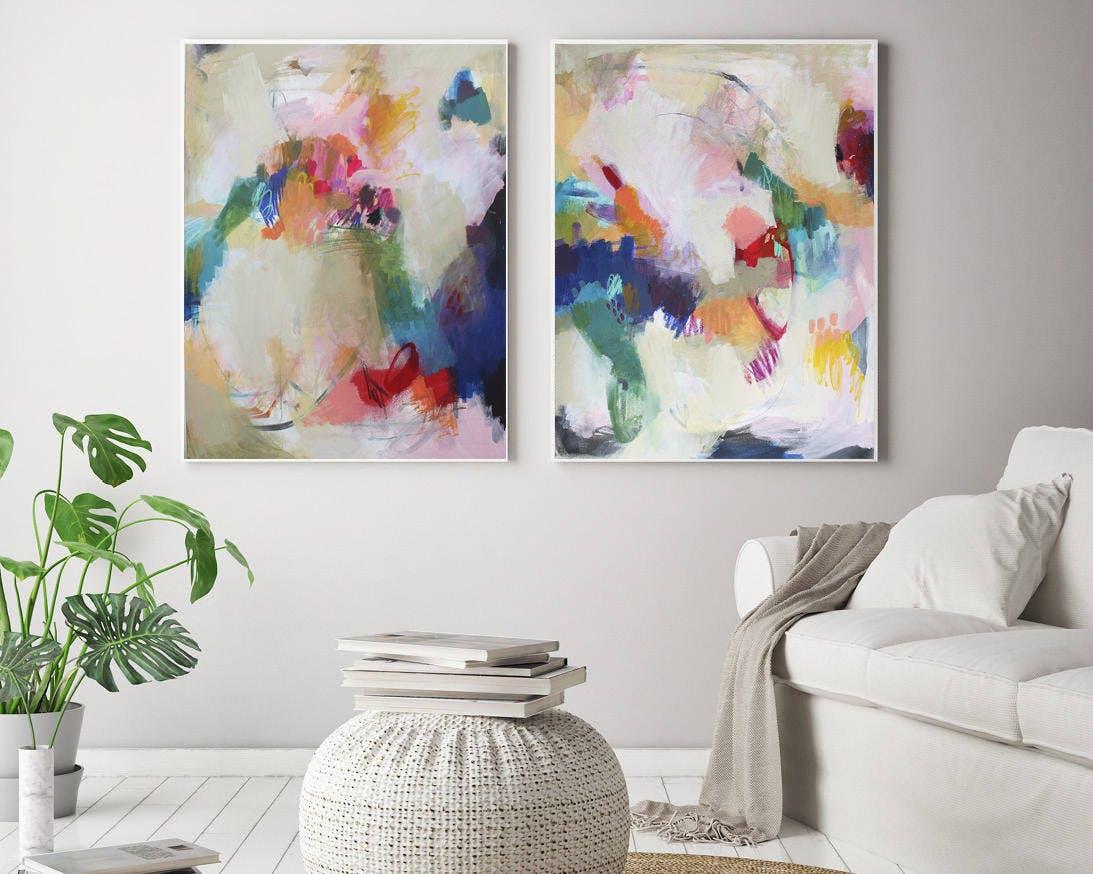 etsy, painting, abstract, wall art