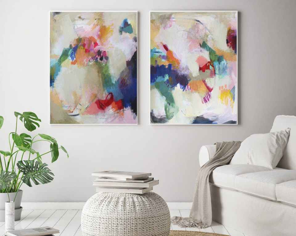 etsy, painting, abstract, wall art