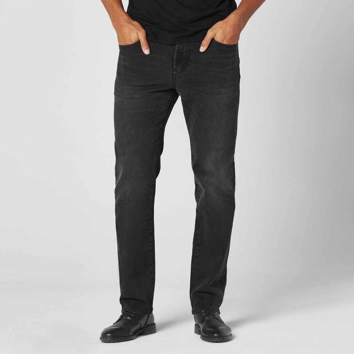 dstld, dstld jeans, straight jeans, washed black denim