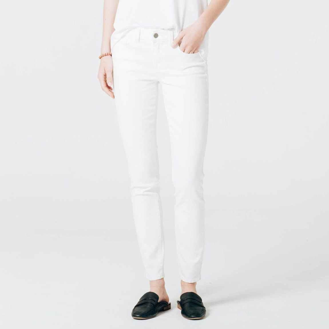 dstld jeans, dstld, white skinny jeans, skinny jeans, mid rise jeans, stretch denim