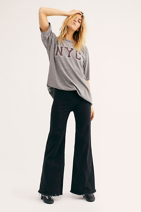 Drapey A-Line Pull On Pants