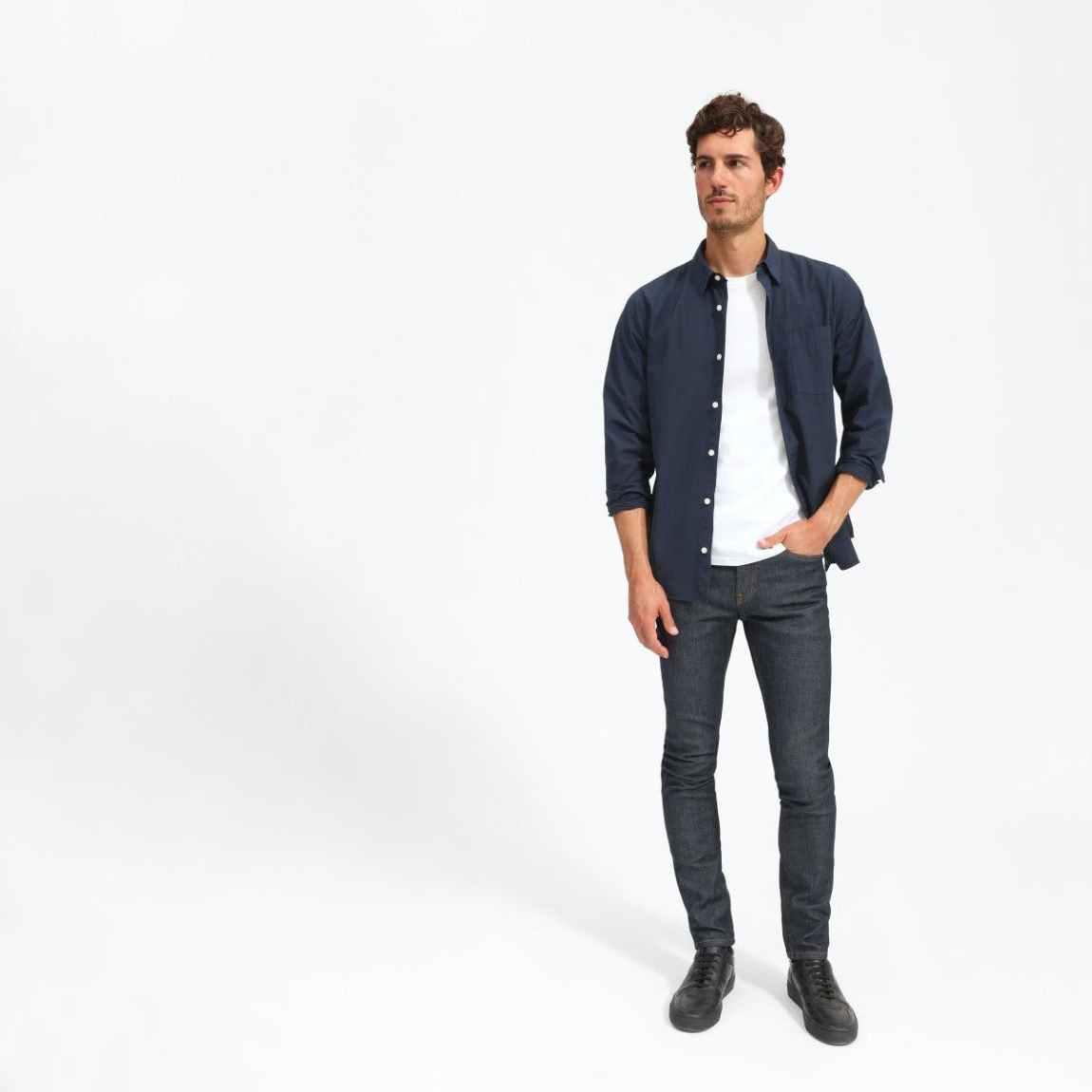 everlane, everlane jeans, everlane denim, japanese denim, skinny jeans, slim jeans, raw jeans, tapered jeans, denimblog, denim blog
