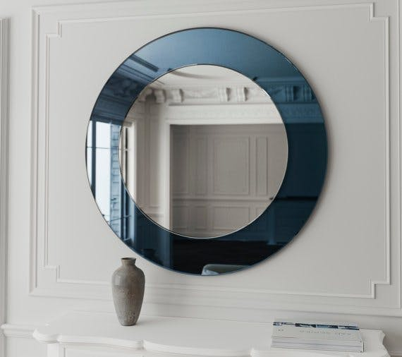 Dark blue mirror