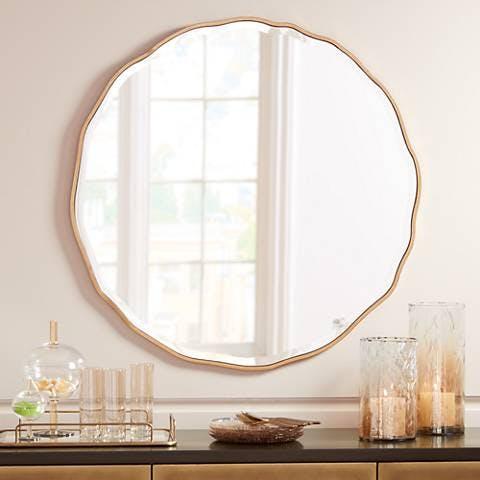 Waved Edge Wall Mirror
