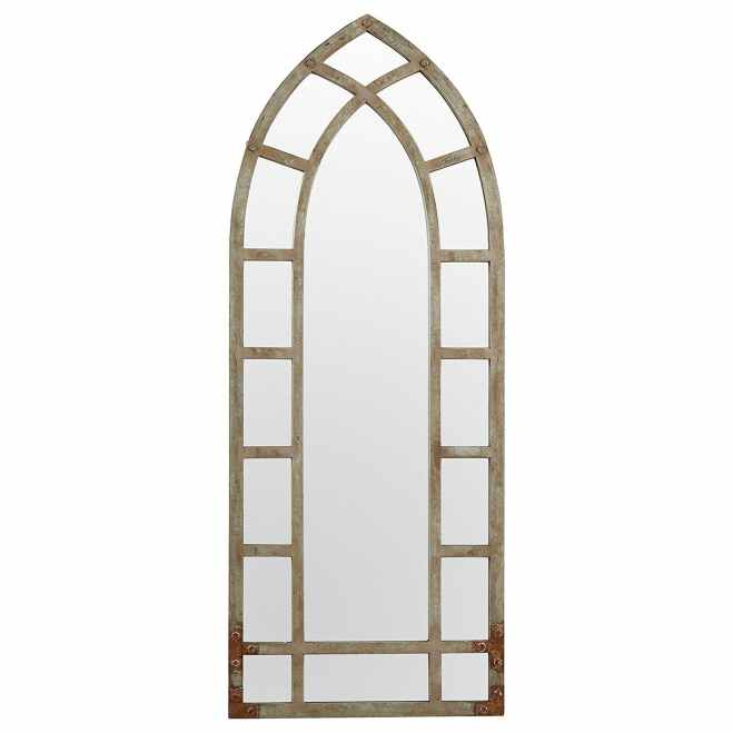 Modern Arc Metal Frame Mirror