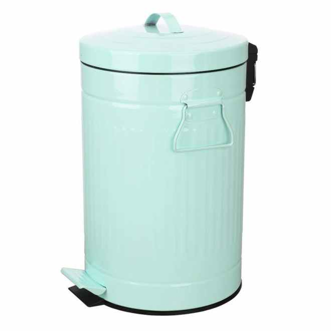 Retro Vintage Trash Can with Lid