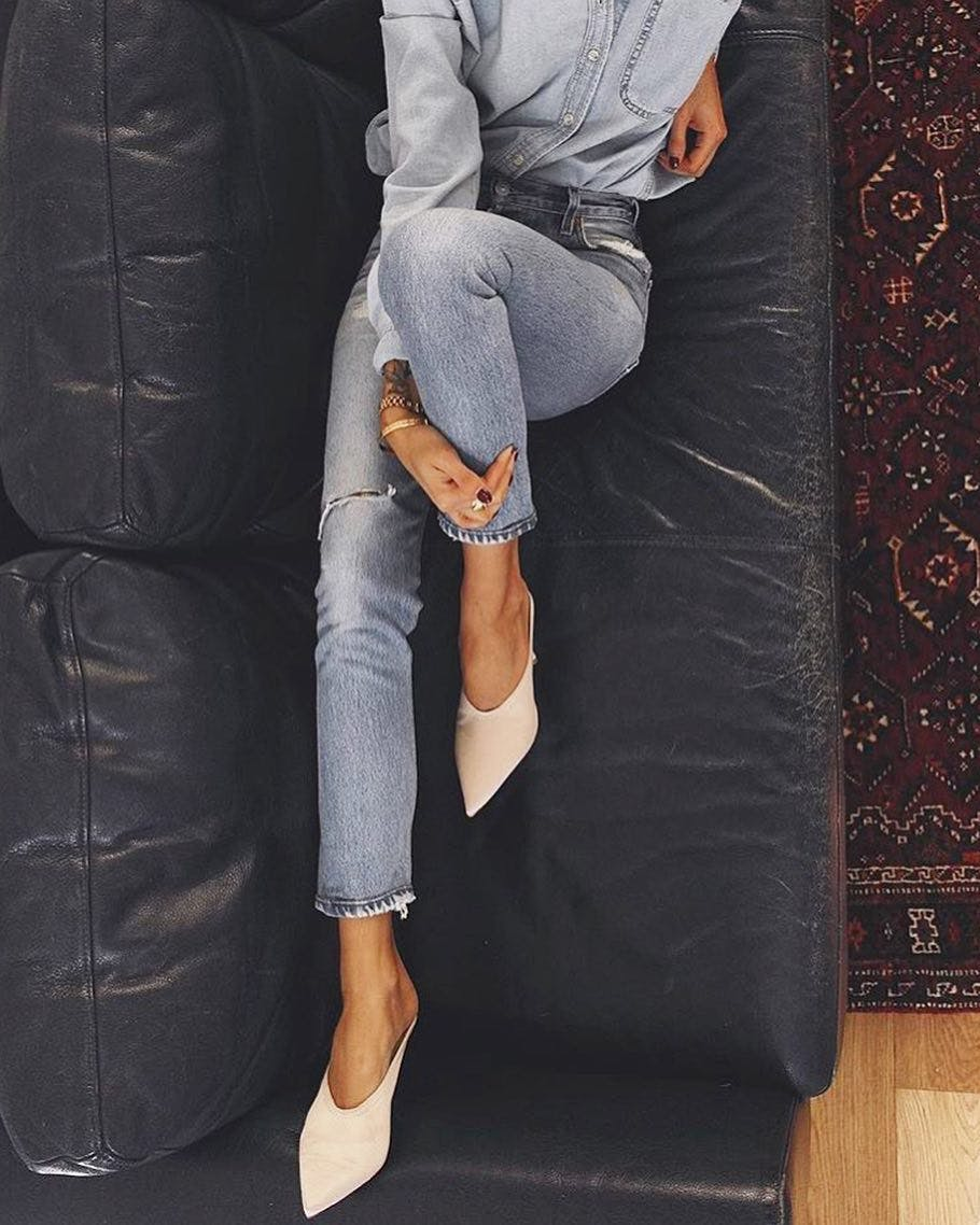 distressed hemline, raw hemline jeans