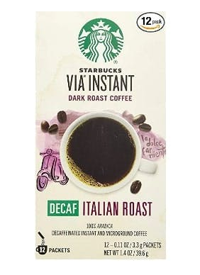 Starbucks VIA Decaf Italian Coffee