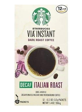 Starbucks VIA Decaf Italian Coffee