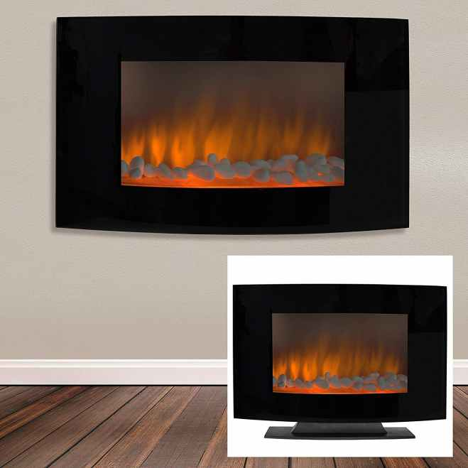 Electric Wall Mount/Freestanding Fireplace