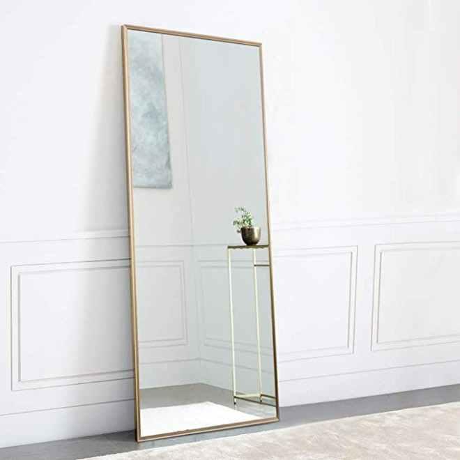 Gold floor mirror