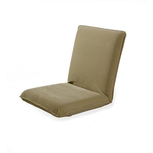 Back support floor chair