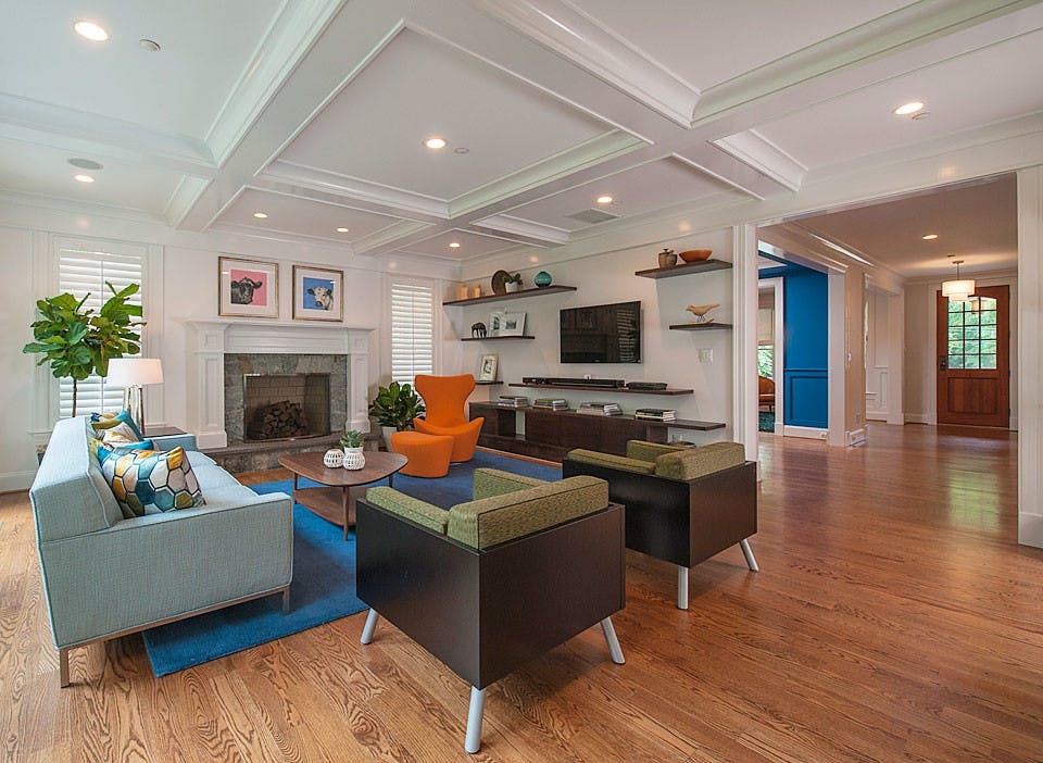 Another views of the same open floor plan.