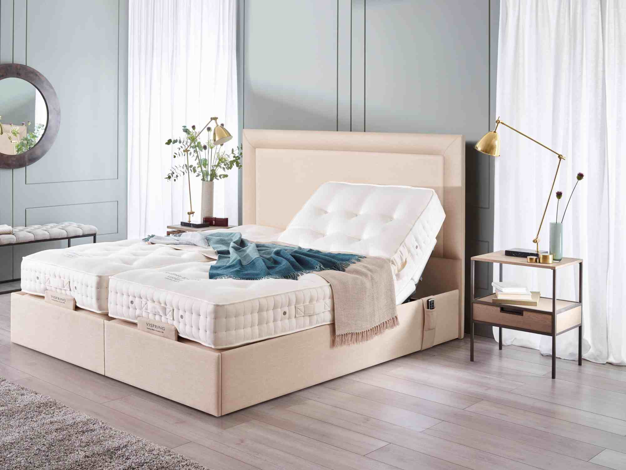 hight resolution of sapphire ii adjustable bed with arcadia headboard