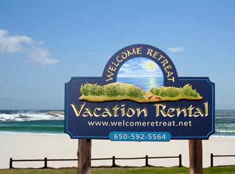 Vacation Rental Beach Resort Sign Danthonia Designs Usa