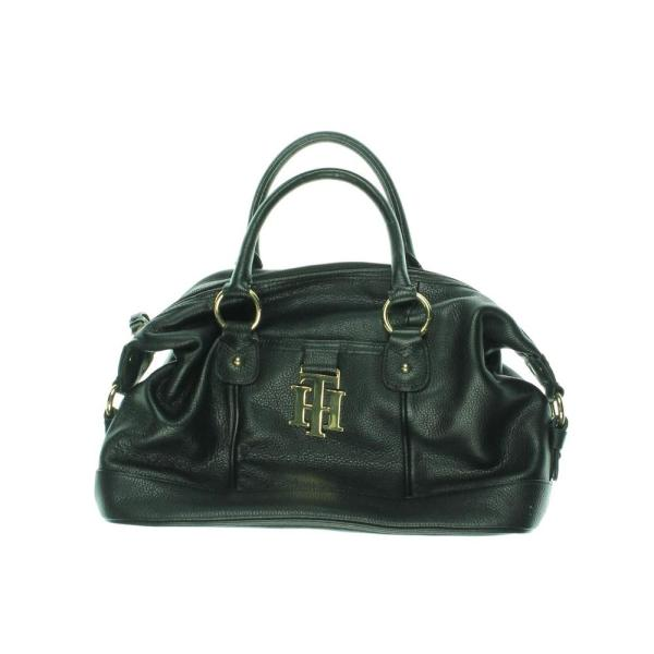Tommy Hilfiger Black Leather East West Satchel Doctors