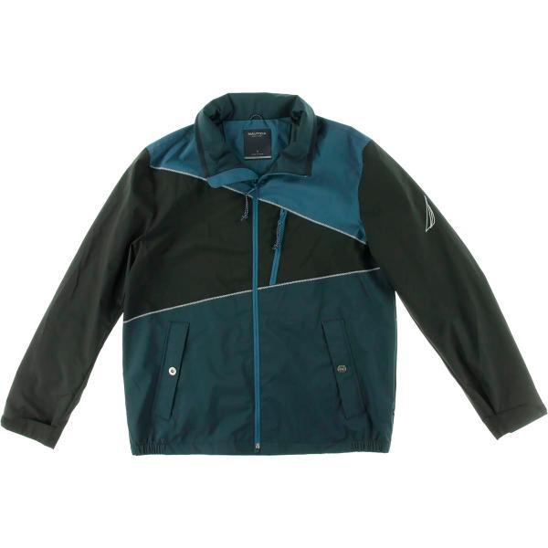 Nautica 7918 Mens Colorblock Zip Front Water Resistant