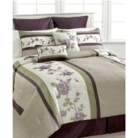 Eggplant Colored Bedding Sets.Hudson Street Florence 7 Pc