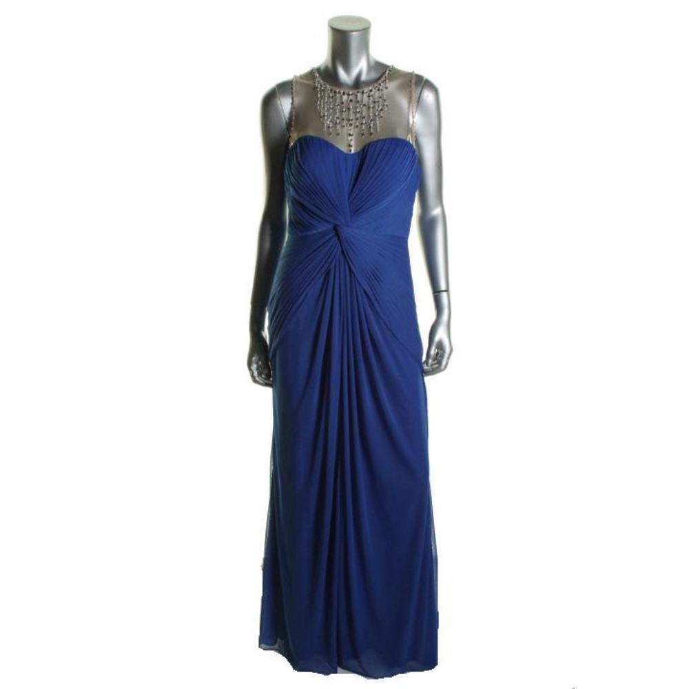 ADRIANNA PAPELL 5036 Womens Embellished Sleeveless Evening Dress Gown BHFO  eBay