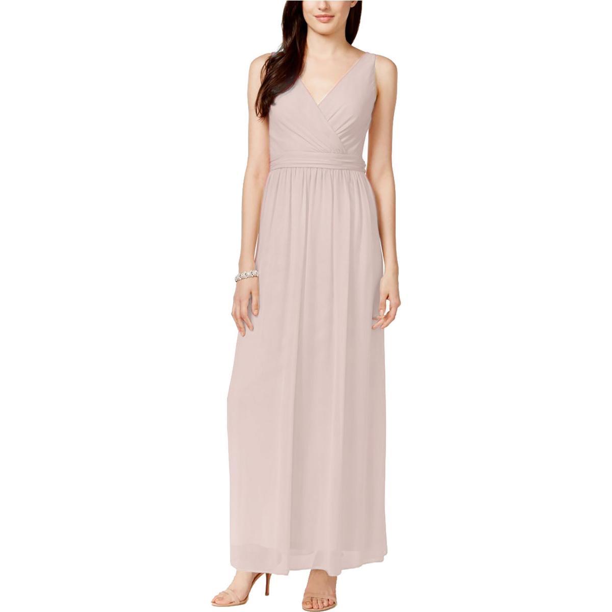 Adrianna Papell 7326 Womens Chiffon Drape Back Formal Evening Dress BHFO  eBay