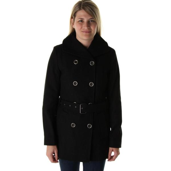 Nine West 0829 Womens Wool Blend Double Breasted Outerwear