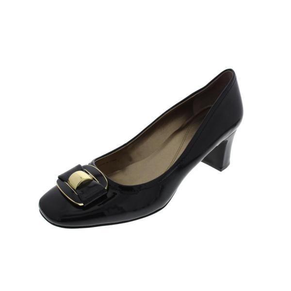 Tahari Sylvan Blue Patent Square Toe Heels Pumps Shoes