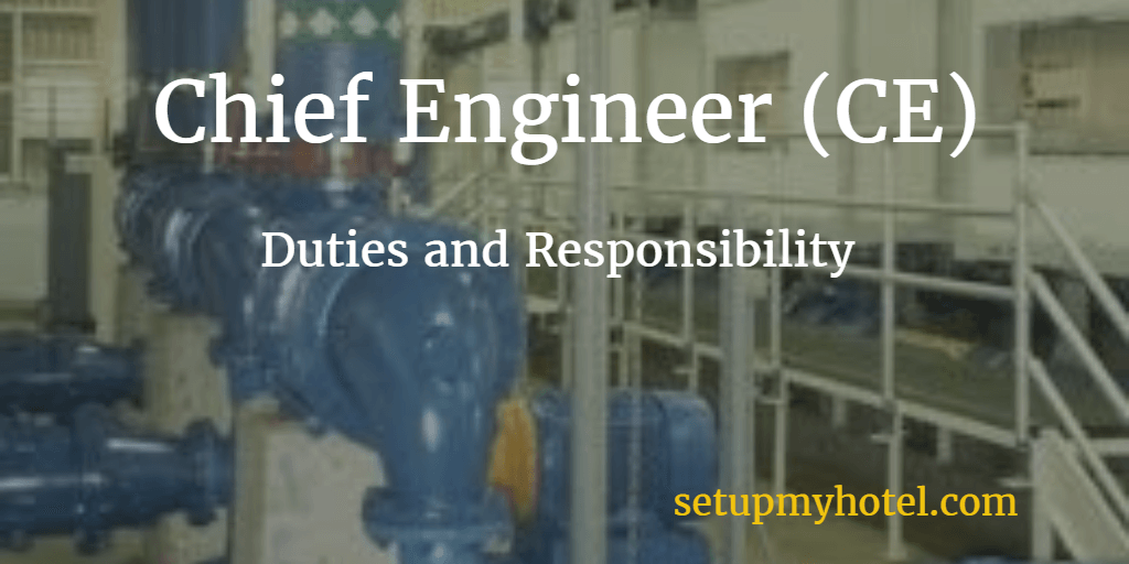 Hotel Chief Engineer CE  Engineering Manager Job