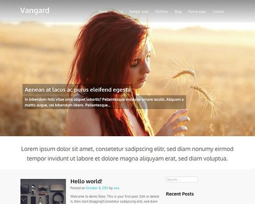 Vangard Free WordPress Theme With Big Image Slider