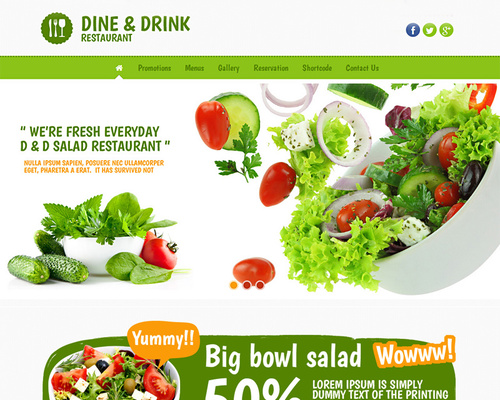 dine drink fresh food