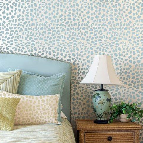 Leopard Skin Allover Stencil Small Scale Reusable Wall