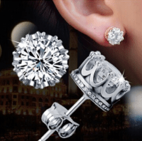 Fine Jewelry Collection: Crown stud diamond Earrings on ...