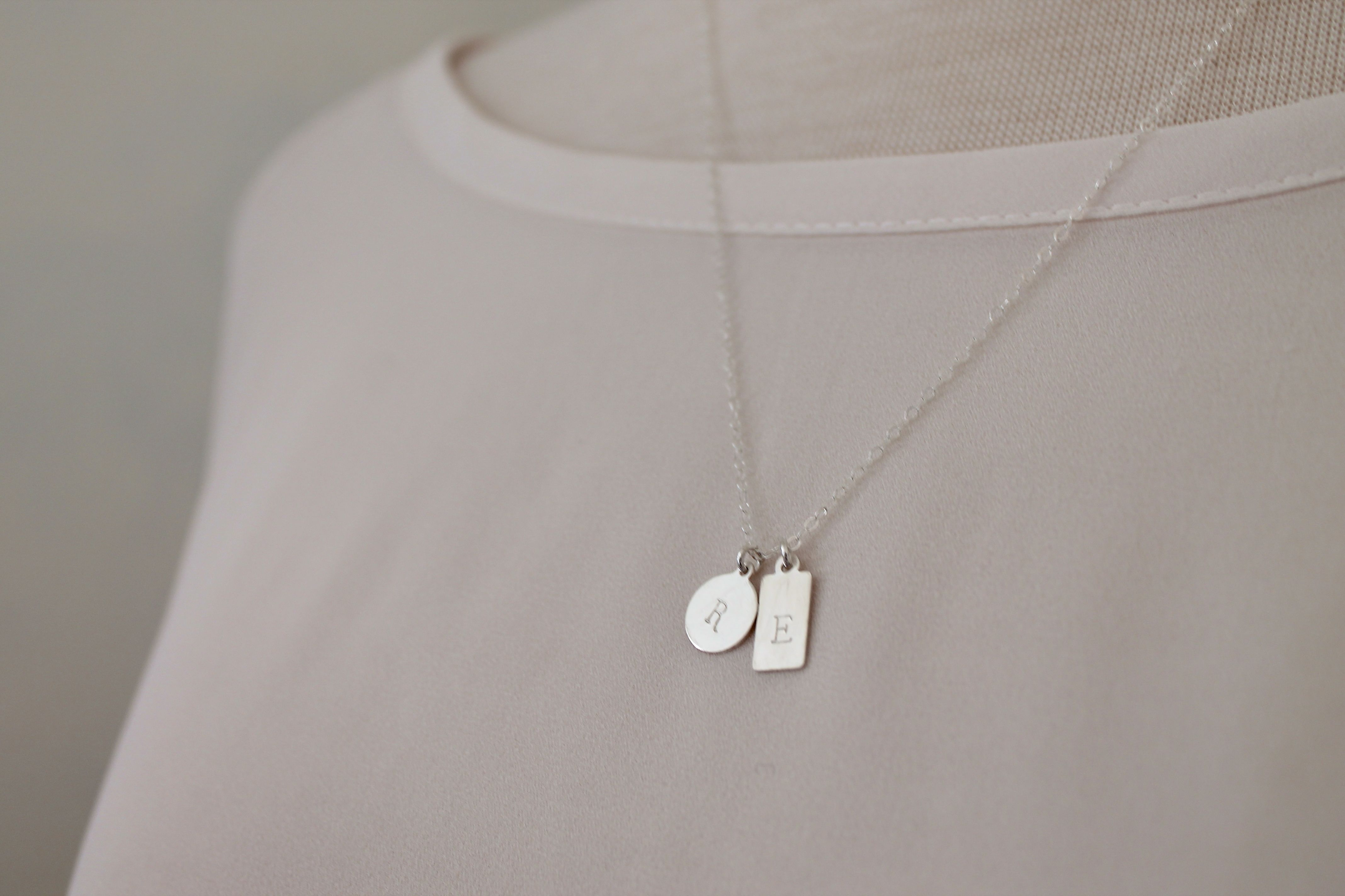 sterling silver duo tag