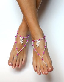Hot Pink Toes Barefoot Sandals
