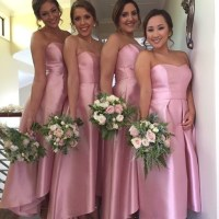 Long Bridesmaid Dress, pink Bridesmaid Dress, sweet heart ...