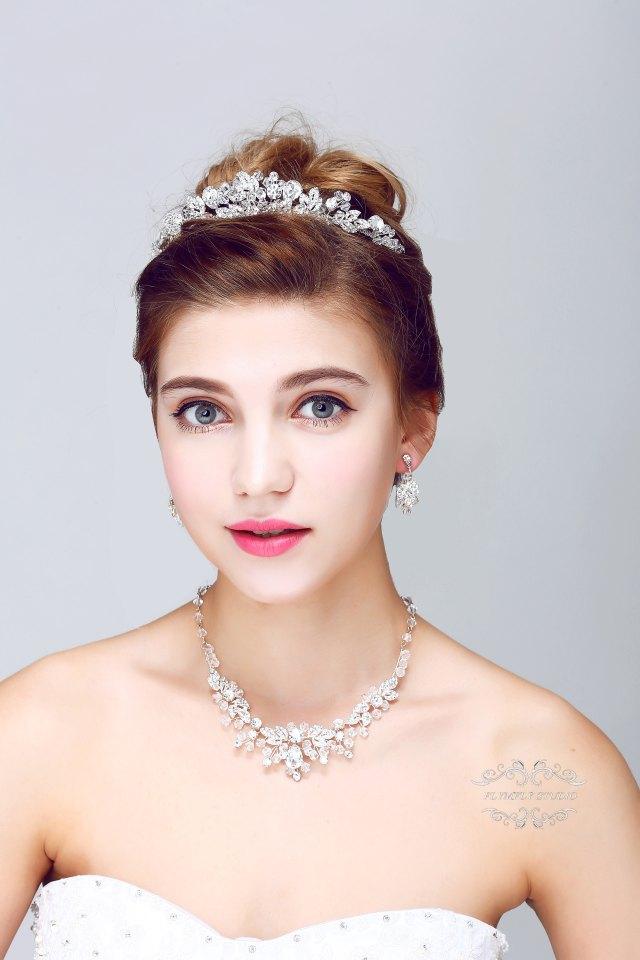 wedding hair accessories, bridal set, bridal tiara, necklace earrings set wedding hair piece, greek hair wreath, greek crown