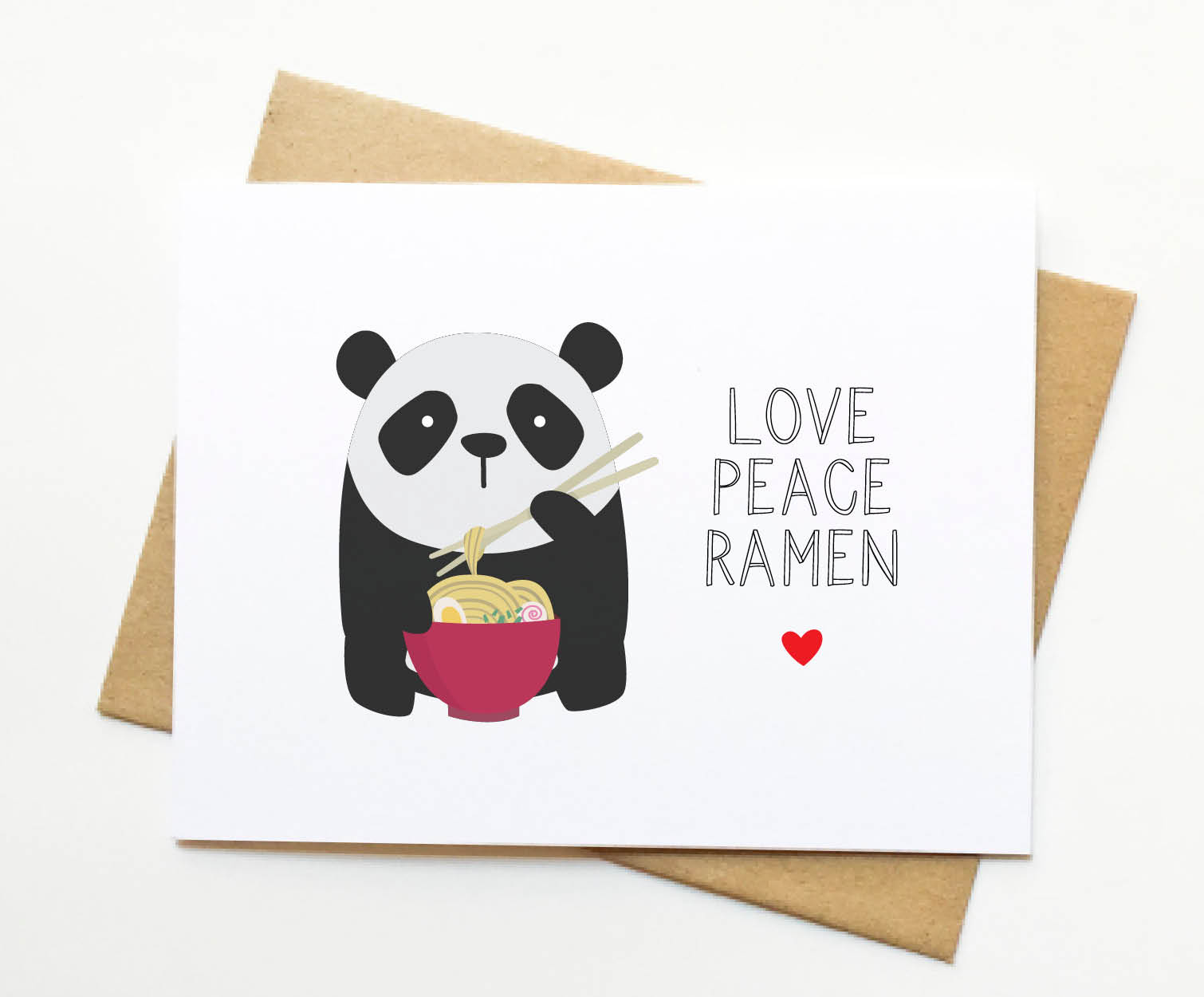 Panda Ramen Foodie Kawaii Card Le Trango Online Store