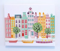 Amsterdam Wall Art, Canal Houses, Wall Art Canvas Print ...
