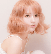 japanese sweet curly wig asian