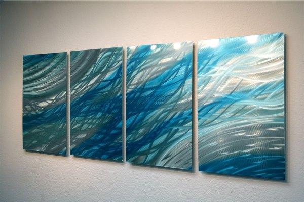 Abstract Metal Wall Art- Ocean 2 -contemporary Modern