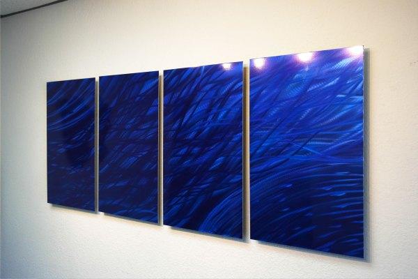 Ocean Dark Blue - Metal Wall Art Abstract Sculpture Modern