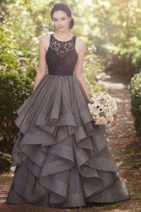 sexy long prom dresses,Beautiful grey lace organza prom