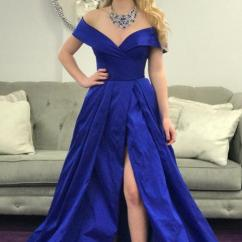 Kitchen Gadgets Store Used Cabinets Nj Elegant Off The Shoulder Royal Blue Long Prom Dress With ...