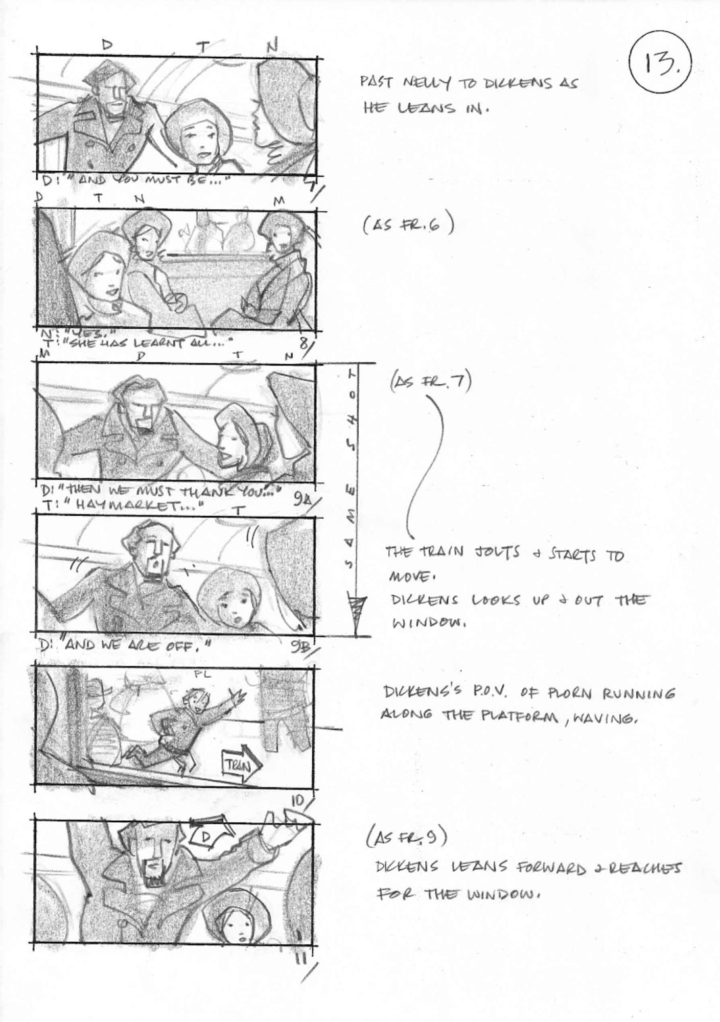 Exploring the storyboards of The Invisible Woman