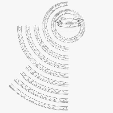 Circle Triangular Truss Modular Collection (10 Modular