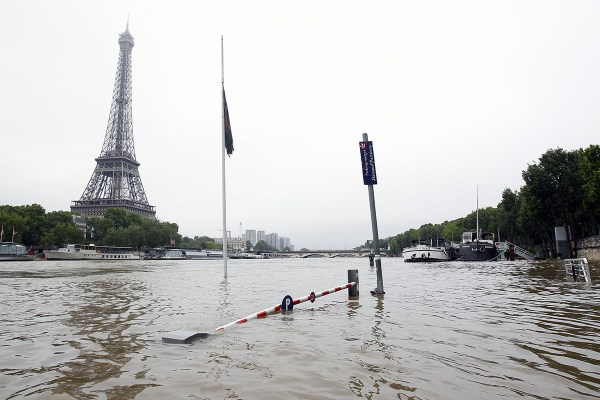 Flooding in Paris France Today
